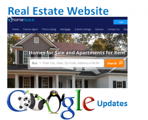 real estate website updates